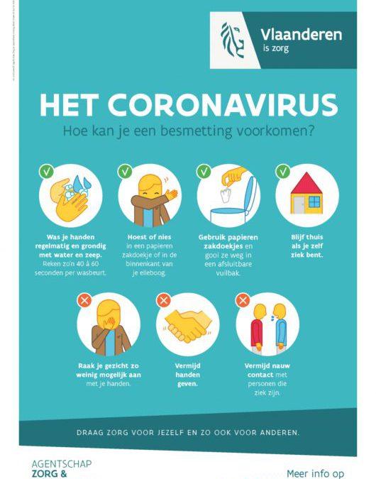 Lessen afgelast wegens Corona virus
